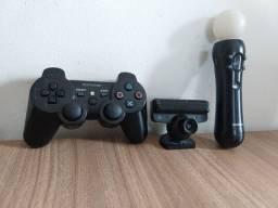 PS3 Slim  500Gb 1 controle e Kit Move