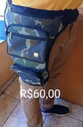 Pochete, bolsa de perna, cartucheira.