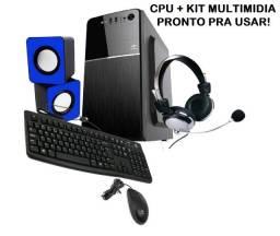 Computador Cpu Com SSD 256gb Memoria 8gb ddr4 Celeron 3900 Placa Mae 1151 7ª Geração!