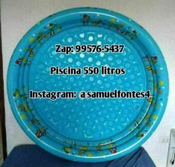 Piscina infantil 550 Litros gg azul