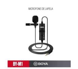 Microfone de Lapela Boya BY-M1 Original 5mt