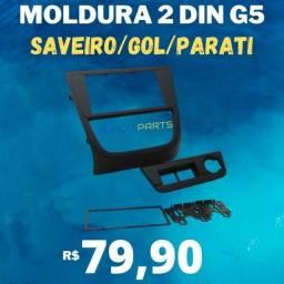 Moldura Do Painel Central Multimídia Gol G5 Autoplast Preta