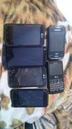 6 celulares com defeitos