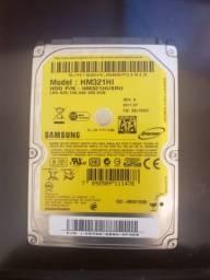 Vendo com pouco uso HD Samsung 320GB