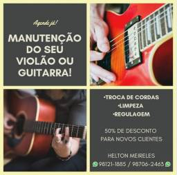 Manutenção e Restauração  de violão e guitarra