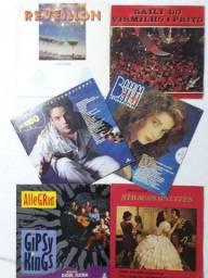 Coleção de 6 discos Vinil - Coletâneas e Novelas