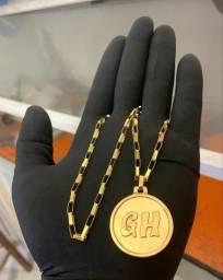 Cordão de prata Banhado a Ouro 24k