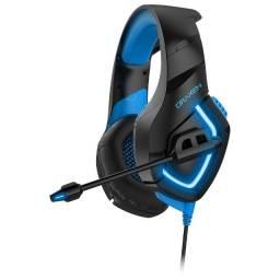 Headset Gamer Draxen DN100 Preto e Azul Draxen