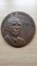 Medalha Bronze Centenário Lindolfo Collor Ministério do Trabalho 60 anos
