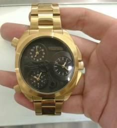 Relógio Touch-Technos Dourado Original