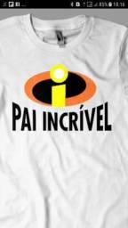 Kit Camisas Personalizada pais e filho dia dos Pais