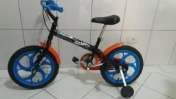Bicicleta Caloi aro 16 Hot Wheels