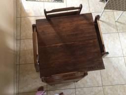 Mesa de lanche. Bolsa de entregado
