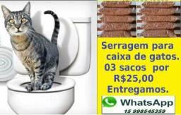 SERRAGEM Para caixa de gatos