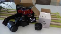 Canon T5i Rebel + lente 50mm + lente 18-55mm
