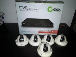 DVR STAND Alone + 5 mini câmeras intelbras