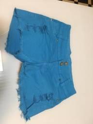 Short azul tamanho 38