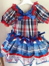 Vestido infantil para quadrilha