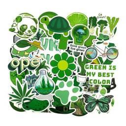 50 Unidades Adesivos Green, A Prova D'água