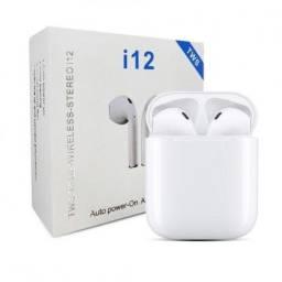 Fone De Ouvido Sem Fio Bluetooth 5.0 I12 Tws Touch Android Ios
