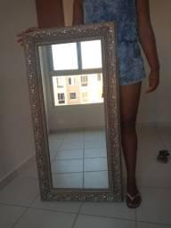 Espelho Rústico de parede Retangular