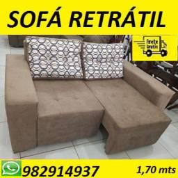 Peça Ja e Receba No Mesmo Dia!!Sofa Retratil Novo Com Frete Gratis!Aproveite!
