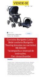 CARRINHO BURIGOTTO LINEA + BEBÊ CONFORTO BURIGOTTO TOURING