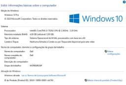 Notebook Dell Core i3 7ª Geração 4Gb / 1 Tb