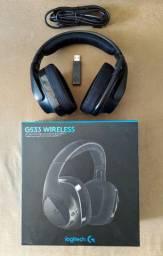 Headset Gamer Logitech G533 Sem Fio 7.1 Wireless