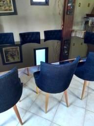 Mesa 8 lugares com cadeiras