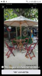 Ombrelones de madeira tratada 13 cores vários tamanhos