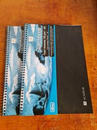 Kit 2 blocos sketchbook académie nunca usados