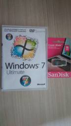 Vende-se Pendrive Da Sandisk/16gb+dvd/windows 7+capaamaray