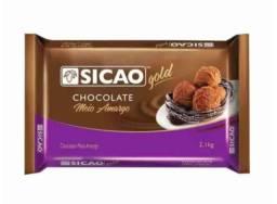 Barra de chocolate meio amargo SICAO GOLD