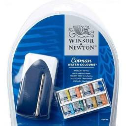 Aquarela Cotman Winsor & Newton Pastilha Mini Plus 8 Cores