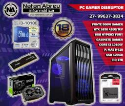 PC Gamer Intel Core i3 10100F + GTX 1650 de 4gb + 8GB HyperX + SSD + HD - Loja Natan Abreu