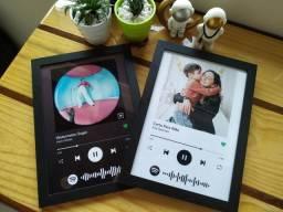 Quadro Presente Interativo Musica Spotify Personalizado A4 24X32cm