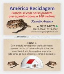 Solim - 1 , produto para espantar cobras venenosas .