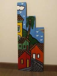 quadro de madeira (composição de tres partes)