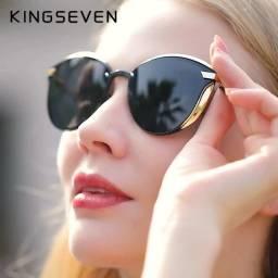 Óculos Gatinho Black UV400 Original da Kingseven
