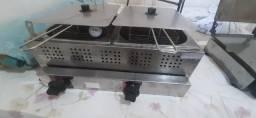 fritadeira duas cubas, a Gás uma cortadora de batata nova