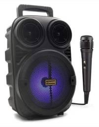 Super caixa de som 35 centímetros de altura Bluetooth rádio microfone