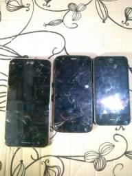 Vendo 3 celulares para retirada de peças 100