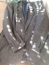 Casaco masculino cinza mesclado