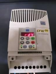Inversor de frequencia 2 cv 220v entrada monofasica weg cfw08