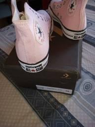 Ténis Allstar rosa botinha novo