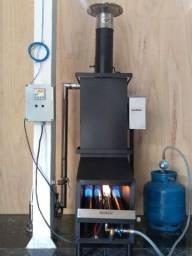 Gerador de vapor a gas\lenha - sauna
