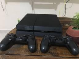 PS/4 fat com dois controles