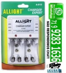 Carregador P/ Pilha Recarregavel Aa/ Aaa/ Bateria 9v Bivolt