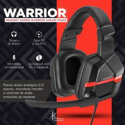 Headset Gamer Warrior Askari, PC/Smartphone/Tablet, Vermelho - PH293